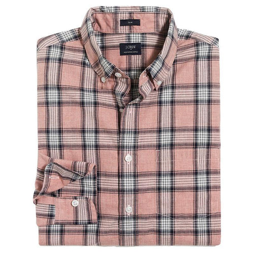 Slim heather washed plaid shirt-J.Crew-Elitify