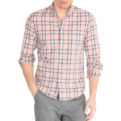 J.Crew Men Slim heather washed plaid shirt-Elitify