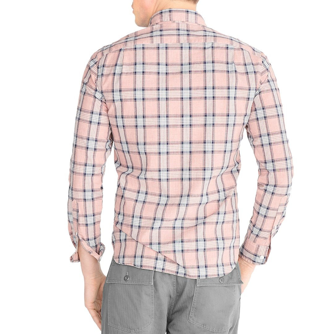 J.Crew Slim heather washed plaid shirt