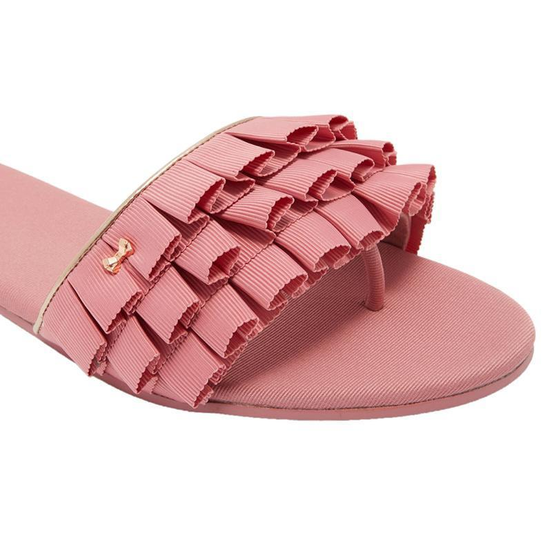 361bc85fb Buy Ted Baker London Ruffle bow sliders in India at Elitify – ELITIFY