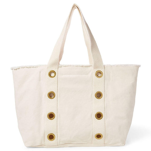 Grommet-Trim Large Canvas Tote-Polo ralph Lauren-Elitify