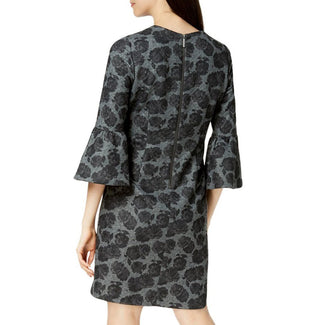 Floral Printed Bell-Sleeve Sheath Dress-Calvin Klein-Elitify