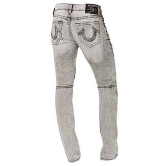 Slim-Fit Stretch Destroyed Moto Jeans-True Religion-Elitify