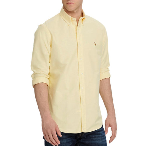 Classic Fit Long Sleeve Solid Oxford Shirt-Polo Ralph Lauren-Elitify