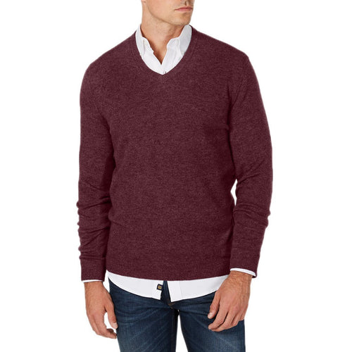 V-Neck Cashmere Sweater-Club Room-Elitify