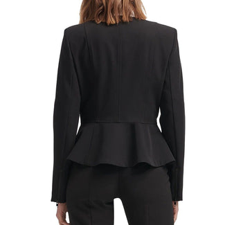 Mixed-Media Peplum Jacket-DKNY-Elityfy