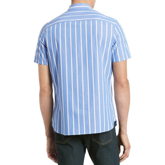 Blue Men Classic Fit Stripes Shirt-Calvin Klein-Elitify