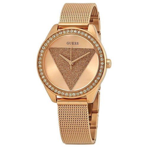 Rose Gold Women Tri Glitz Watch-Guess-Elitify