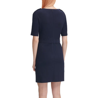 Twilight Zip-Pocket Sheath Dress-Calvin Klein-Elitify