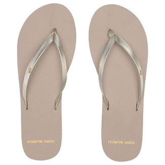 Tory Burch Metallic Leather Flip Flop-Elitify