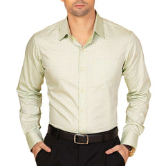 Knight and Bond Sage Green Dobby Check Dress Shirt-Elitify