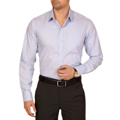 Knight and Bond Blue Shadow Check Dress Shirt-Elitify