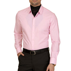 Knight and Bond Day Dream Solid Pink Dress Shirt-Elitify
