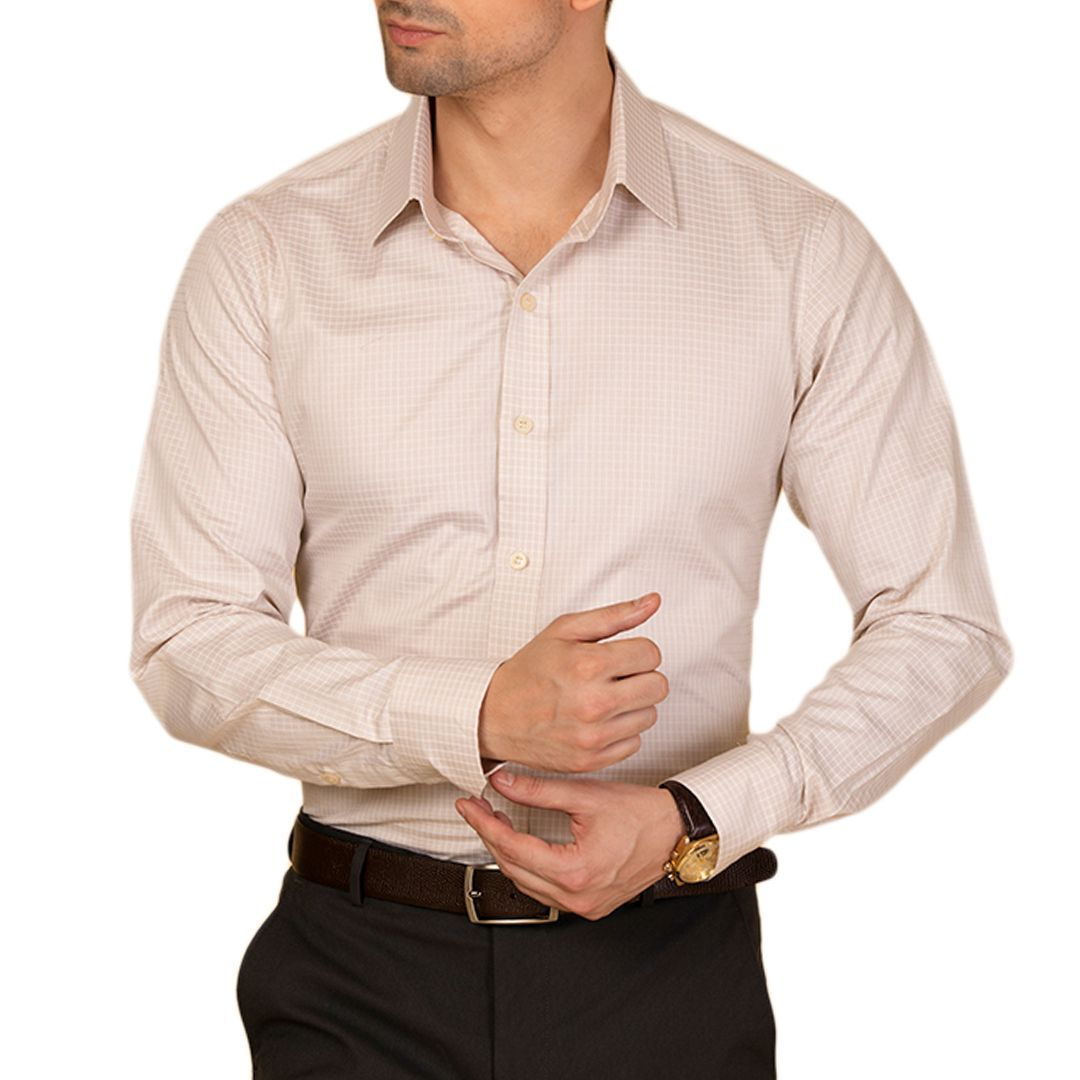 Knight and Bond River Reed Check Dress Shirt-Elitify