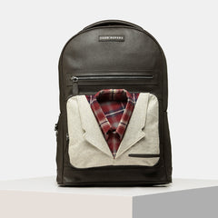 Tiger Marron Men Baller Shot Collar - Multi Brown Backpack-Elitify