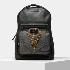 Tiger Marron Men Baller Shot Collar - Multi Black Backpack-Elitify