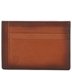 Knight and Bond Men Bermondsey Logo Embossed Leather Card Case-Agate-Elitify