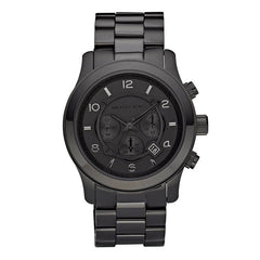 Runway Black Ion Plated Stainless Steel Bracelet Watch