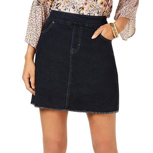 Style&Co Pull-On Denim Skort