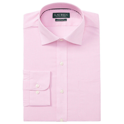 Classic Fit Gingham Cotton Dress Shirt-Ralph Lauren-Elitify