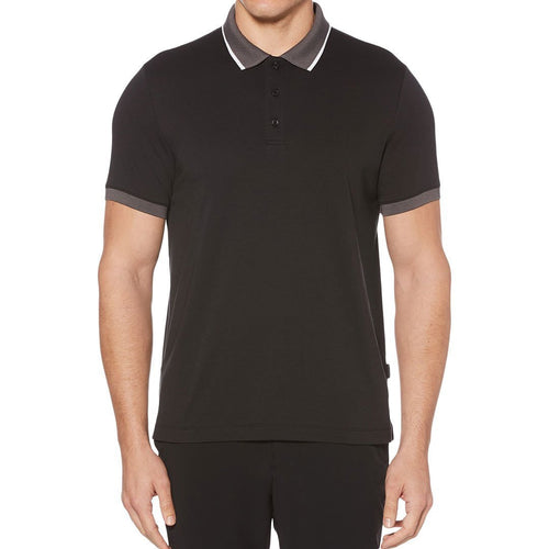 Colorblocked Cotton Polo-Perry Ellis-Elitify