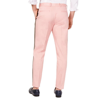 Slim-Tapered Fit Side-Stripe Cropped Chinos-INC International Concepts-Elitify