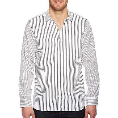 Calvin Klein Black/White Engineered Striped Shirt