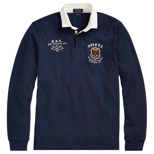 Classic Fit Mesh Cotton Rugby Shirt-Polo Ralph Lauren-Elitify