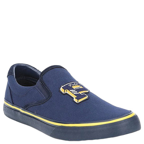 Blue Men Canvas Slip On Sneakers-Polo Ralph Lauren-Elitify