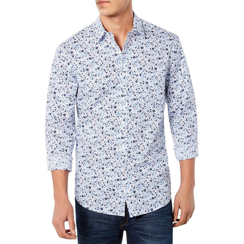 Mens Seaside Floral Graphic Shirt-Club Room-Elitify