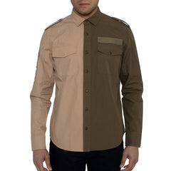 Sean John Men Two-Tone Twill Shirt-Elitify