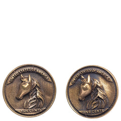 Cosa Nostraa Men The Horse Coin Buttons-Elitify