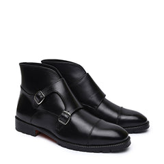 Knight and Bond Arthur Leather Monk Strap Boots-Elitify