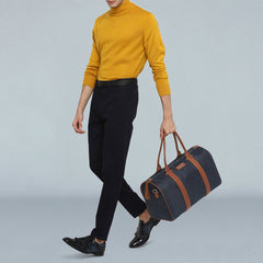 Colour-blocked Weekender Duffle-Elitify