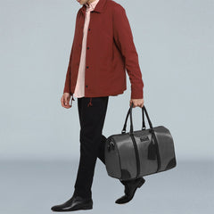 Pewter Nylon Duffle-Elitify