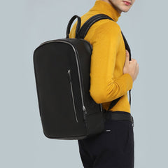 Black Front Zip Backpack-Elitify