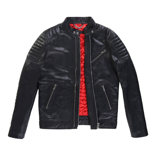 Quilted Panel Lambskin Jacket