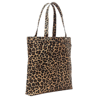 Reusable everyday tote in leopard