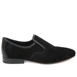 Knight & Bond Stingray Velvet Formal Loafer Black