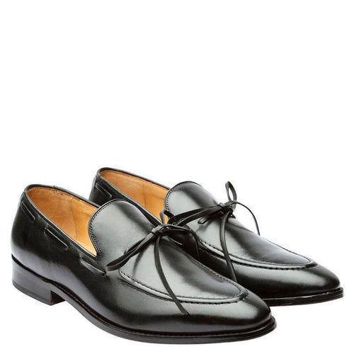 Penny Loafer With Cord Stitch On The Vamp & Ornamental Lacing