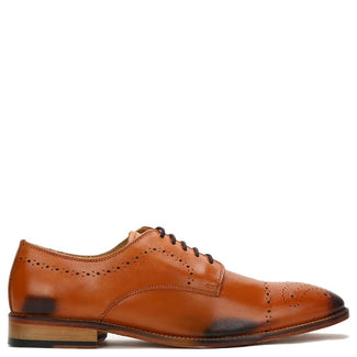 Knight & Bond Classic Brogue Derby With Medallion-Elitify
