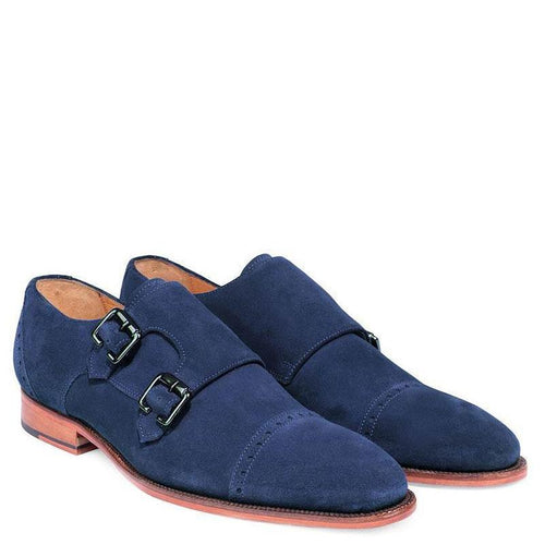 Knight & Bond Leicester double Monks in Suede