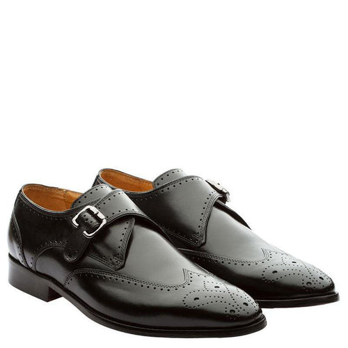Wingcap Single Strap Brogue Monk