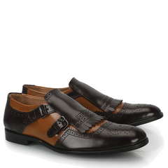 Meucci Dual Tone Monk Strap Shoes