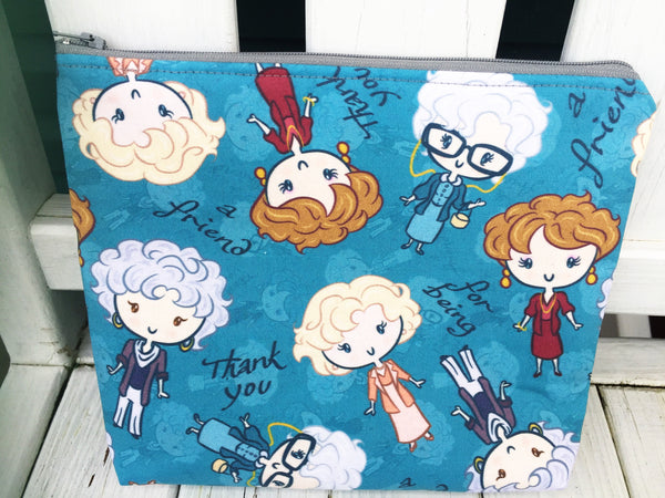 Boxy Golden Girls Zipper Pouch