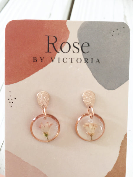 Earrings— Rose by Victoria