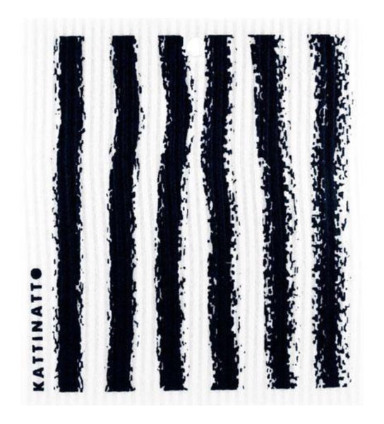 Stripes Black Swedish Dishcloth