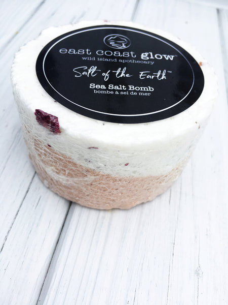 "Wild Rose + Sweet Basil | ""Salt of the Earth"" Sea Salt Bomb"