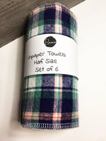Plaid Unpaper Towels- Half Size- 2 ply