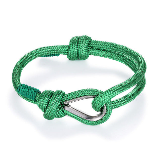 Nautical Rope Chain Paracord Bracelet - WOOD WEARERS